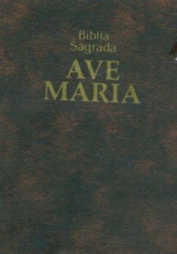 Livro Bíblia Ave Maria de Bolso com Zípper: Zíper - Marrom