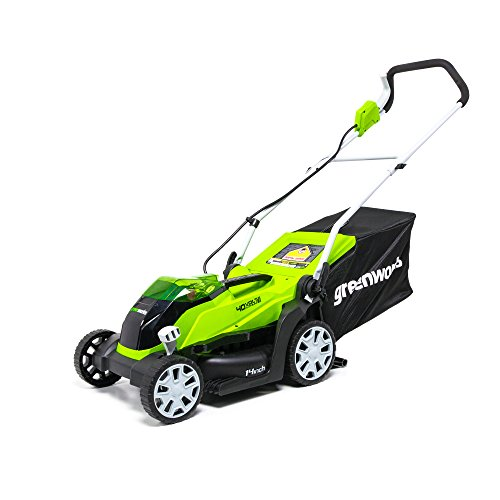 Greenworks MO40B00 40V 14-Inch Cordless Lawn Mower Battery and Charger Not Included, Tool Only