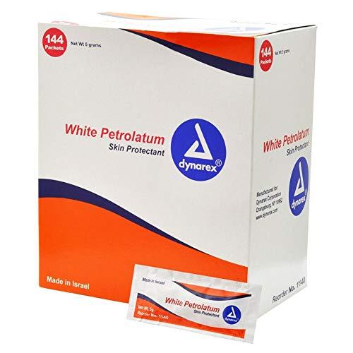 Dynarex White Petroleum, 5g Foil Packs, Pack of 144