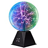Katzco Colorful Plasma Ball - 8 Inch Static Electricity in a Vacuum...
