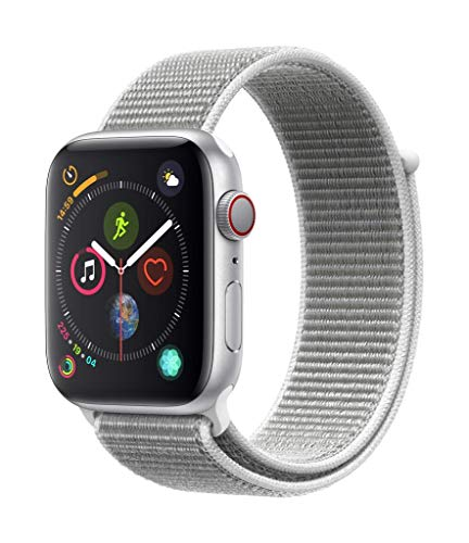 AppleWatch Series4 (GPS+Cellular) con caja de 44mm de aluminio en plata y correa Loop deportiva en color nácar