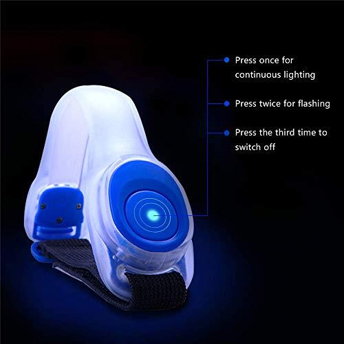 Alviller 2 Stuck LED Armband, Reflective LED Armbänder Leuchtband Reflektor Kinder Nacht Sicherheits Licht für Laufen, Joggen, Hundewandern, Bergsteigen, Running, Jogging und Outdoor Sports - 3