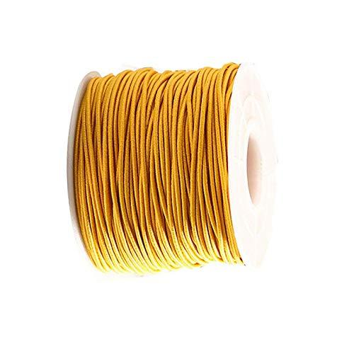 RENSHENKTO Cuerda elástica elástica para cuerda de rebordear hilos de oración, color amarillo 1 rollo