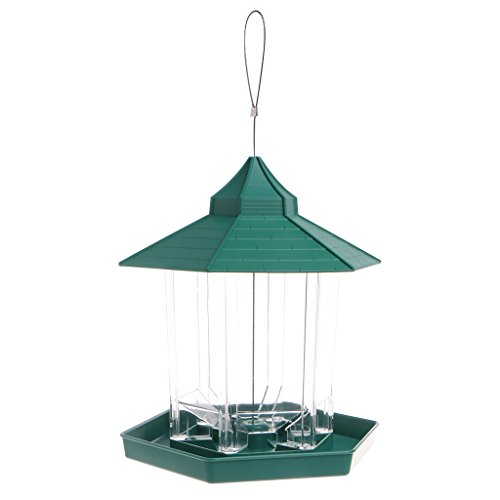 Sac de rangement pour oiseaux - Imperméable à suspendre - Avec plateau - Pour décoration de jardin - Transparent