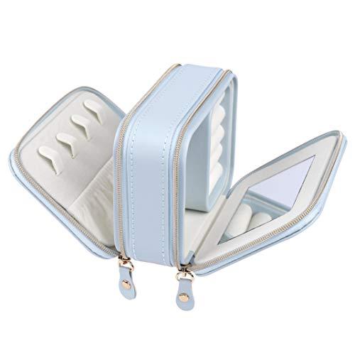 MaoXinTek Caja Joyero Pequeña 2 Niveles Jewelry Viaje
