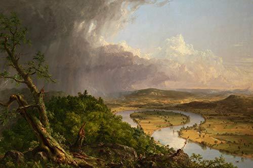 // TPCK // Thomas Cole - Póster con imagen de Mount Holyoke/Northampton Massachusetts After a Thunderstorm (1836), diseño de Thomas Cole