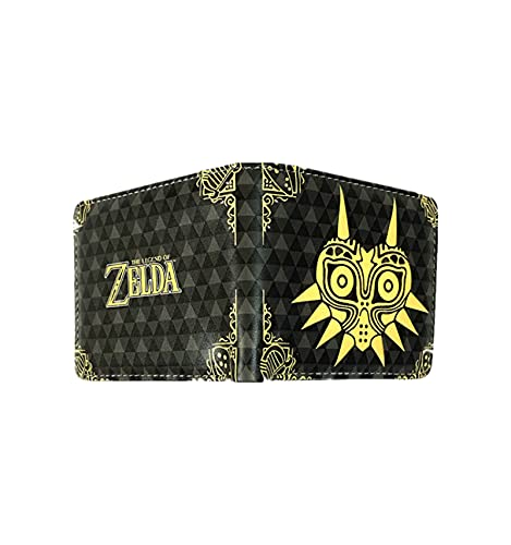 "The Legend of Zelda - Cartera de piel para viaje, diseño clásico con texto en inglés ""Zelda Breath of the Wild"