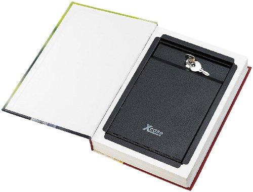 XCase - Cassaforte a forma di libro, 26,5 x 19 cm