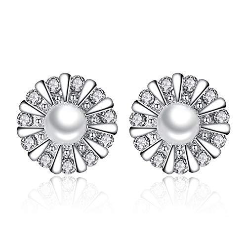 Aretes Plata De Ley 925 Gran Oferta Pendientes De Flor De Cristal Diseño Creativo Aros De Oreja Joyería Para Mujeres