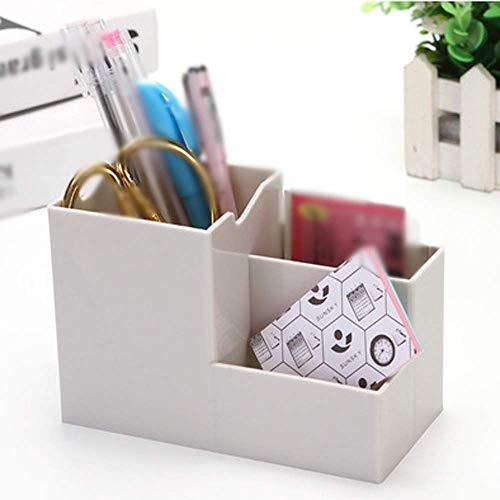 ADSE Caja de Almacenamiento de cosméticos, Caja de Almacenamiento de Escritorio Multifuncional, Cepillo cosmético Teléfono Caja de Almacenamiento de cosméticos Suministros de Oficina (Color: B)