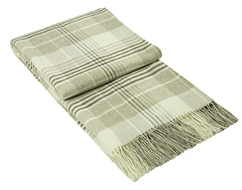 Nostra   Merino Wolldecke Kuba   Sofadecke   Ideal für Babys   Weiche & sanfte Tagesdecke   Beige Decke   140x200 cm