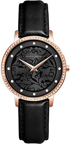 Reloj de pulsera, Se puede seleccionar una variedad de colores para los relojes de diamantes de imitación de las damas, los relojes deportivos de flores tallados de moda y ocio para estudiantes univer