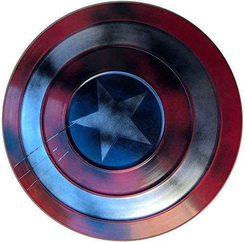 Capitan America Scudo Supereroe Scudo 1: 1 Marvel Giocattolo Replica Bar Decorazione Battuto Metallo Puntelli Cosplay Scudo per Adulti Scudo Capitan America C,47CM