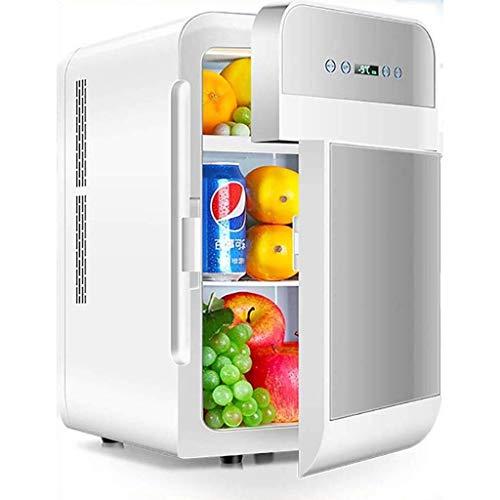 Fee-ZC Draagbare koelkast met dubbel gebruiksdoel, stille desktop-minibar, 20 liter, mini-koelkast, woonkamer-autoverwarming, mini-compacte koelkast, multifunctioneel