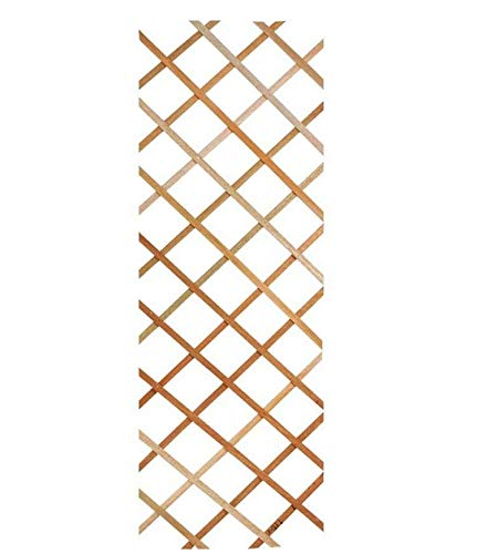 Traliccio Grigliato Reticolato in legno naturale estensibile per piante e fiori rampicanti per balconi, terrazze e giardino (100X300 CM)
