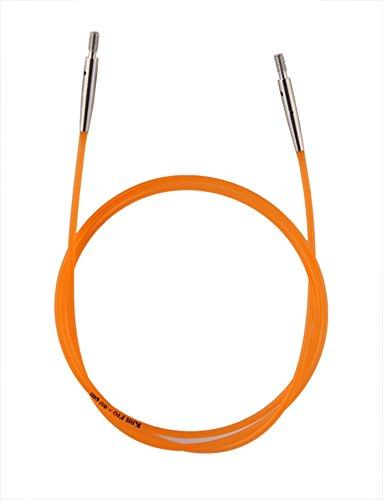 KnitPro Nadelseil Orange, 80cm Rundstricknadel, Nylon, 55 x 0.3 x 0.3 cm