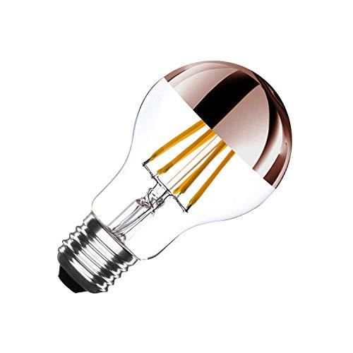 LEDKIA LIGHTING Bombilla LED E27 Casquillo Gordo Regulable Filamento Copper Reflect Classic A60 6W Blanco Cálido 2000K - 2500K