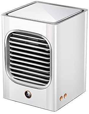 GXT Mini refrigerador de Aire Aire Acondicionado portátil Aire Acondicionado USB Ventilador Recargable USB con humidificador de Aire para la Oficina de la habitación Frio (Color : White)