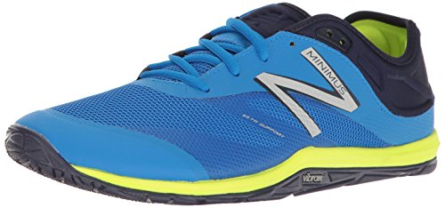 New Balance Men's Minimus 20 V6 Cross Trainer, Electric Blue/Dark Denim/Hi Lite, 7.5 2E US