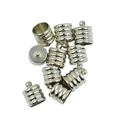 Milageto Pinza para tapón terminal de latón 10 unidades para cable de 8 mm 9 mm – Plata