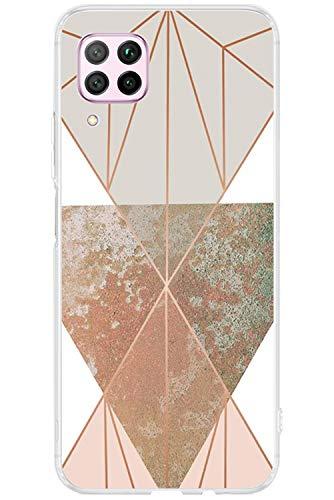 kinnter Transparent Hülle Kompatibel Mit Huawei P40 lite Hülle Silikon Handyhülle TPU Soft Bumper Stoßfest Schutzhülle Ultra Dünn Case Für Huawei P40 lite Tasche Cover Männer Frau Mädchen
