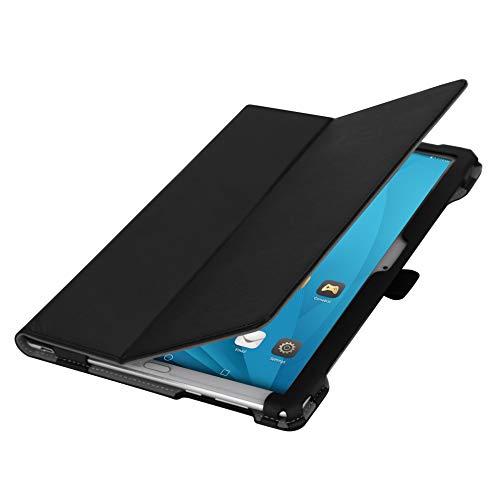 """ISIN Folio Funda Case Cover Carcasa con Stand Función para Huawei Mediapad M5 10 CMR-AL09 CMR-W09 y M5 Pro CMR-AL19 CMR-W19 (No Apto para Huawei Mediapad M5 Lite 10,1"""") 10.8"""" Android Tablet PC(Negro)"""