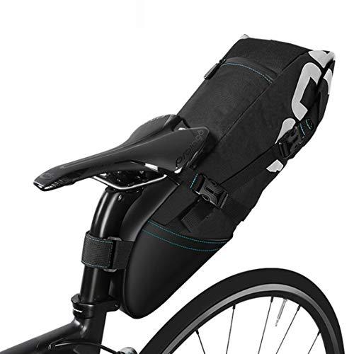 Bolsa de sillín de bicicleta, bolsa de alforja de asiento de bicicleta de 10L Bolsas debajo del asiento Bolsa de almacenamiento de bicicleta Bolsa de almacenamiento para bicicleta de montaña al aire