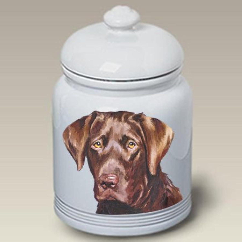 Best of Breed Chocolate Labrador  Barbara Van Vliet Ceramic Treat Jars