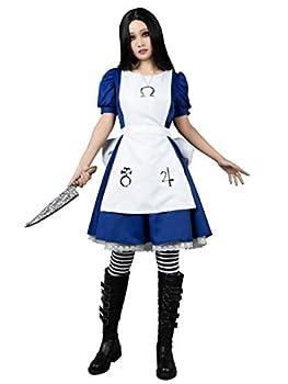 CosFantasy Madness Alice Cosplay Costume Maid Dress Apron+Necklace mp004390  Medium