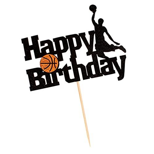 jojofuny Decoración de Torta de Baloncesto para Baby Shower Cupcake Elige Decoración de Torta de Baloncesto para Niños Fiesta de Cumpleaños Palillos de Fruta para Tema Deportivo Feliz