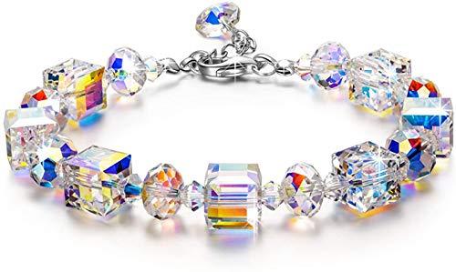 DJDL Women Bracelets, A Little Romance Women Jewellery, Aurora Borealis Crystals, 5cm Extender Chain, Best Gifts for Women Her Mum Girls A