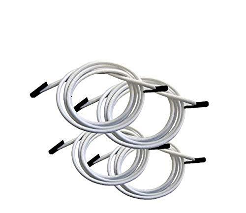 Lafuma Gummischnur-Set mit Endkappen für RSX/RSXA, 4 Schnüre, weiß