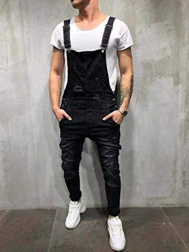 WQZYY&ASDCD Jeans Vaqueros Pantalon Jeans para Hombre Streetwear Destroyed Ripped Jeans Homme Hip Hop Broken...