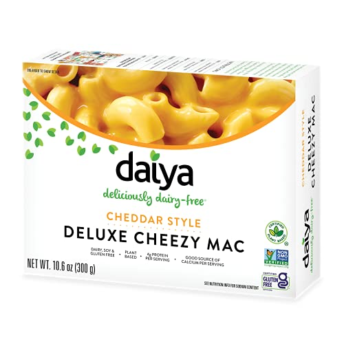 Daiya Cheezy Mac, Cheddar Style :: Rich & Creamy Plant-Based Mac & Cheese :: Deliciously Dairy Free, Vegan, Gluten Free, Soy Free :: Whole Grain Gluten Free Noodles, 10.6 Ounce (Pack of 4)