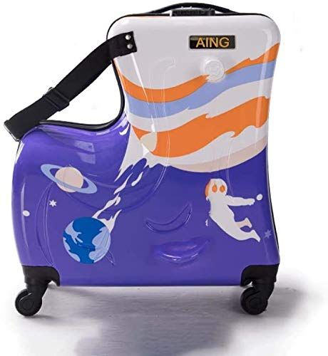 Ride-on Suitcase for Kids Carry on Rolling Bagage Koffers Riding Trolley Bag for Kids Wheeled reisbagage for Children, 26 inch Leuk speelgoed voor kinderen. (Color : 26 Inches)