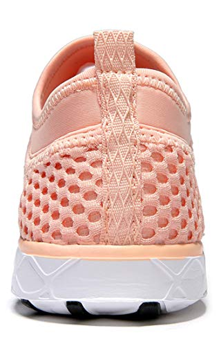 Zhuanglin Women's Quick Drying Aqua Water Shoes,Pinkorange,8.5 B(M) US