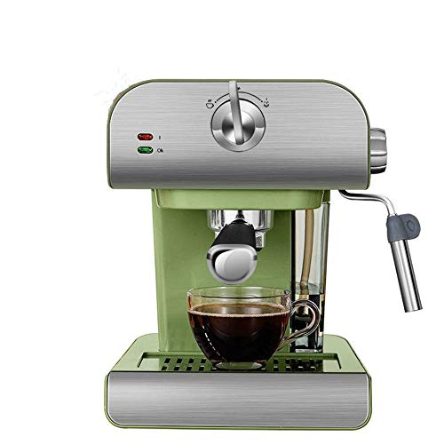 20Bar máquina de café espresso bomba de alta presión varita de vapor espumador de leche, con pantalla táctil termo de acero inoxidable 1,5 litros tanque de agua transparente extraíble máquina de café