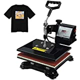 Tangkula 12' x 10' Heat Press Machine, 360 Degree Swing Away Digital Heat Sublimation with Display Screen, Convenient Heat Transfer Printing for T-Shirt