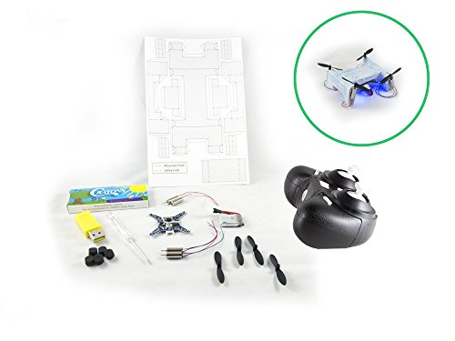 Kitables Paper Drone Kit - Make Your Own Custom Quadcopter And Watch It Take Flight With Our Fun and Exciting DIY Origami Drone Building Kit