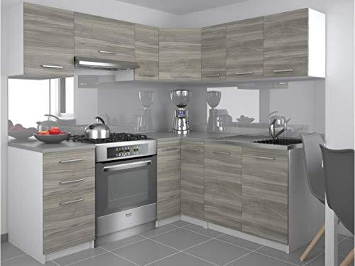 Tarraco Comercial Muebles de Cocina Completa Lidia Gris 360 cm