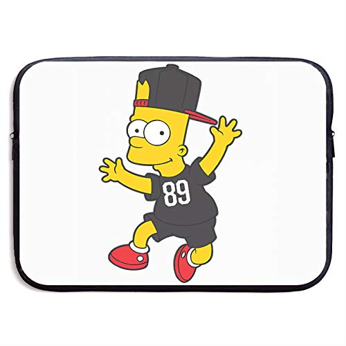 Bart Simpson Laptop Bag 15 Inch Sleeve Case Neoprene Protective Case/Notebook Computer Pocket Case/Tablet Briefcase Carrying Bag Compatible/Soft Carrying Zipper Bag 15 Inch