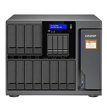 QNAP TS-1635AX-8G-US 12+4 Bay Marvell Armada 8040 Quad-core 1.6GHz 8GB DDR4 RAM 2X M.2 2280 SATA Slots 2X 10GbE SFP+ LAN 2X GbE LAN