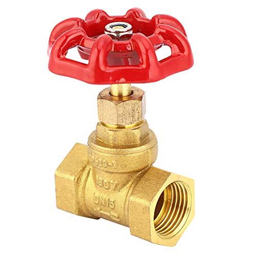 Válvula de globo,Válvula de cierre de globo de latón DN15 G1 / 2in, Rosca hembra Dos sellos Válvula de cierre para agua, petróleo, gas,anticorrosión y resistencia a la presión,1.6Mpa