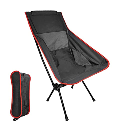 Folding Camping Chair, Lightweight Portable Foldable Camping Chair for Fishing Beach with Carry Bag for Caravan Trips, BBQs, Garden, Travelling Load-bearing120kg