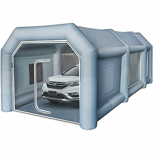 Fayelong Carpa Inflable para Cabina De Pintura En Aerosol con 2 Sopladores 680W + 350W Y Sistema De Filtro De Aire Carpa Portátil para Cabina De Pintura para Autos