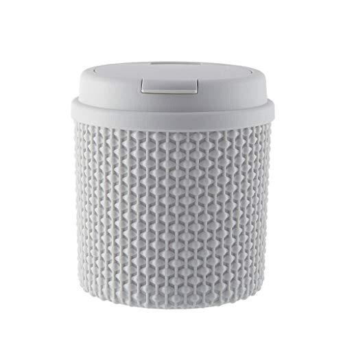 jinyi2016SHOP Cubo de Basura Papelera de Escritorio Creativa para el hogar Papelera multifunción con Tapa Caja de Almacenamiento Linda Papeleras (Color : Gray A)