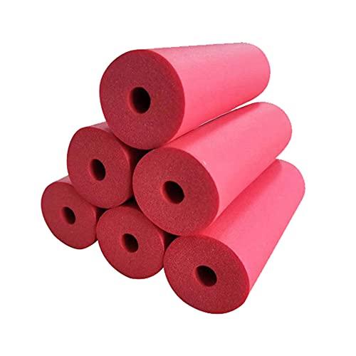 GEREP 1.8m Tubo Isolante in Schiuma Isolante per Tubature, Tubi Coibentati ntigelo Alte Temperature, Spessore Parete 9mm / Red / ID19mm