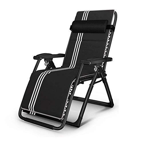 ZDZY Sillón reclinable, sillón de Playa Sillón de jardín Sillón reclinable Plegable sin Silla de Gravedad Apoyabrazos de Masaje, balcón Silla de Oficina para Tomar el Sol para Tomar el Sol