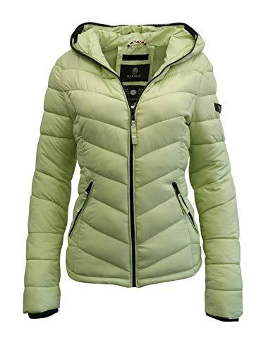Marikoo Damen Jacke Steppjacke Frühling Herbst Übergangsjacke Daunen Look Kuala (XS-34, Light Grün)