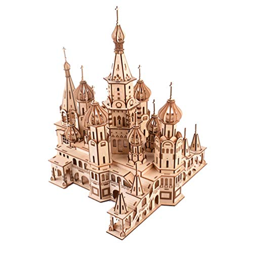 DYJD Jigsaw Puzzle 3D, Rusia Catedral de San Basilio Puzzle, de Madera Rompecabezas de Rompecabezas 3D, un Total de 492 Piezas
